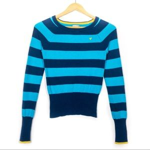 American Eagle Striped Crewneck Knit Sweater